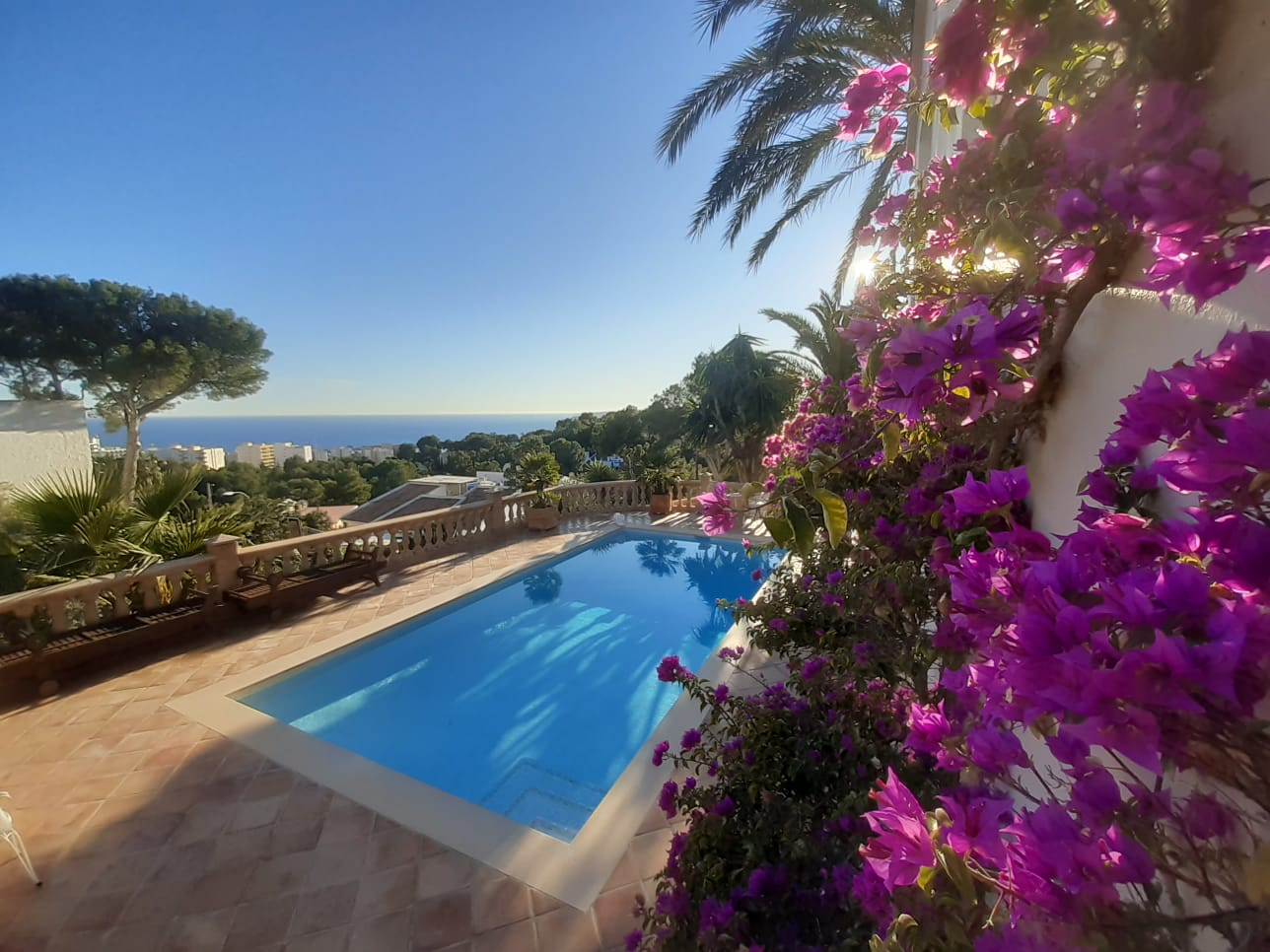 5 bedrooms villa with pool and sea views for rent in Costa den Blanes