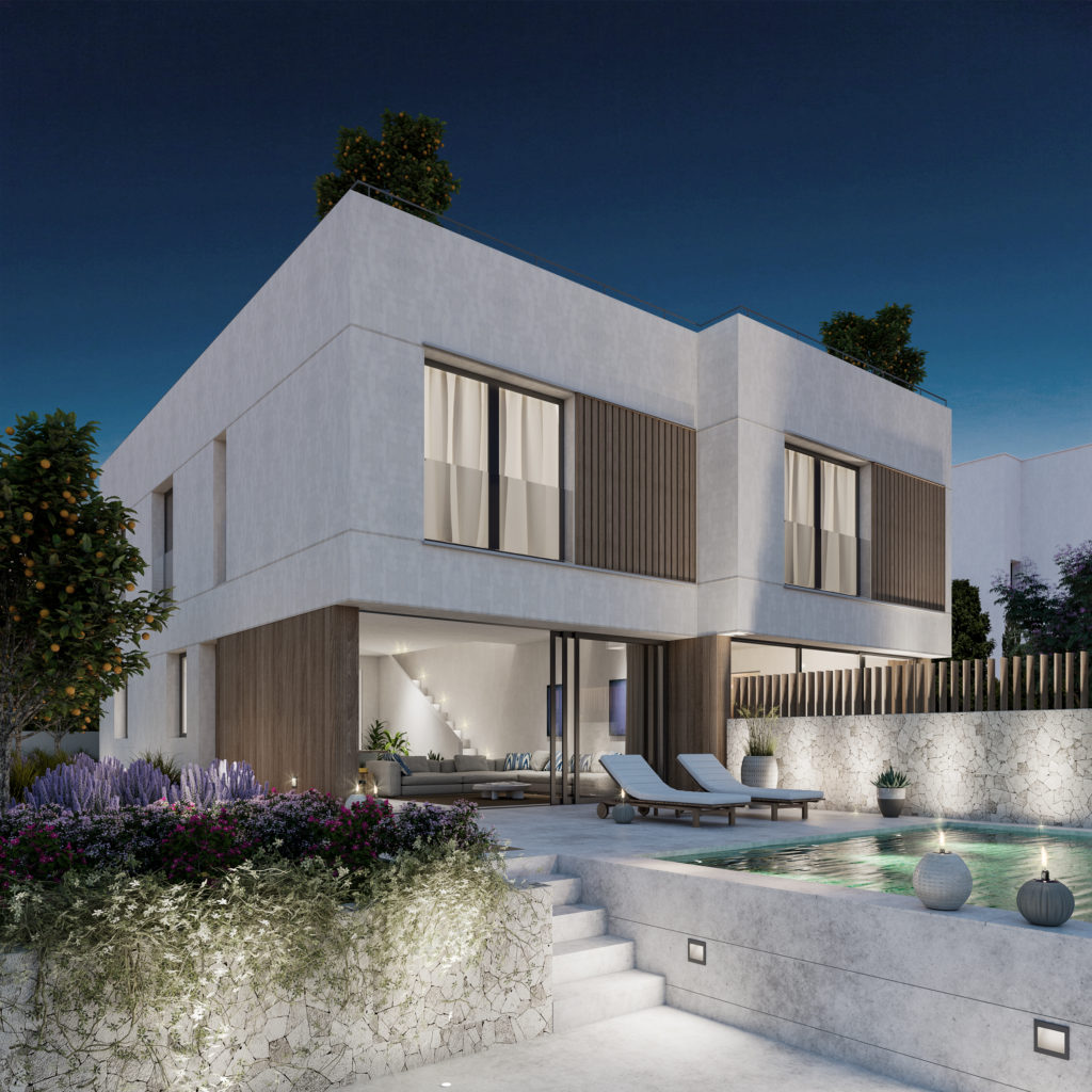 Semidetached new modern house close to Palma