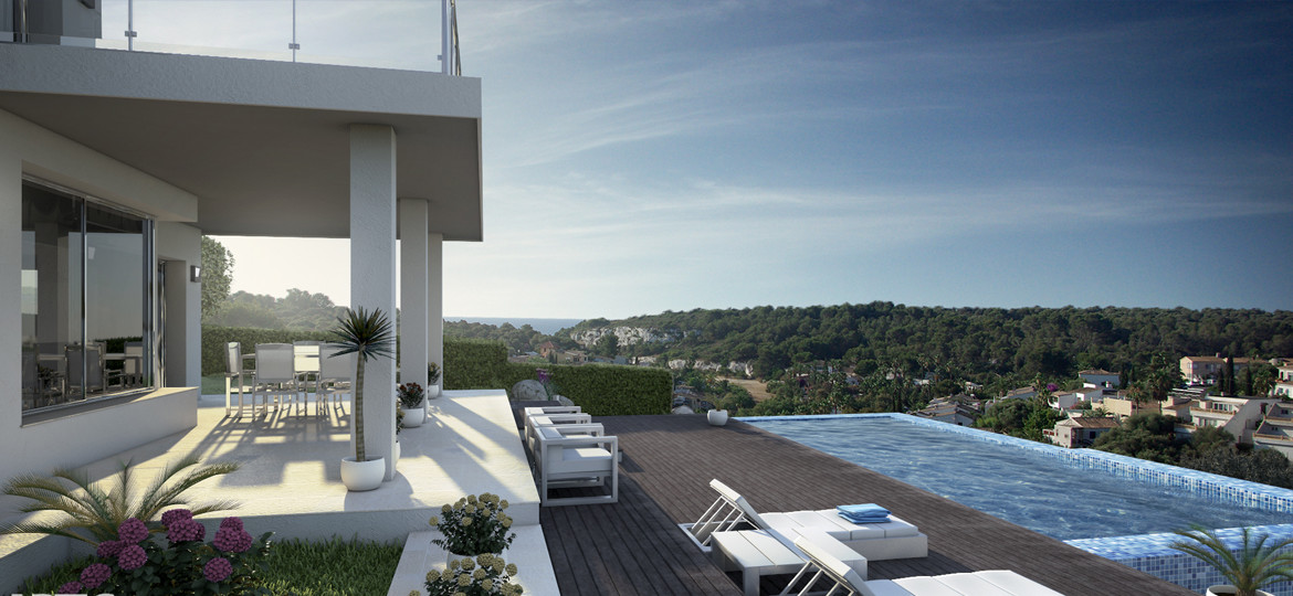 Cala Romantica – Brand new modern villa with sea views and holiday rental license