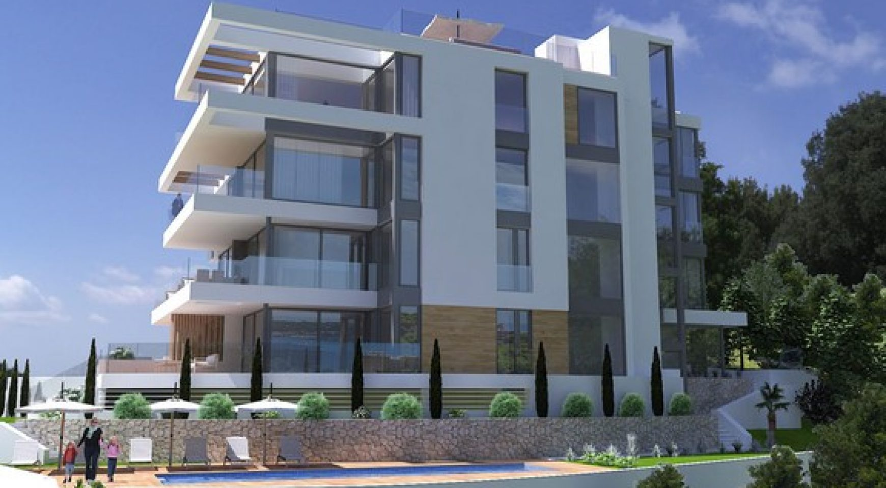 Elegant Brand New Apartments with fantastic Sea Views in Palma area