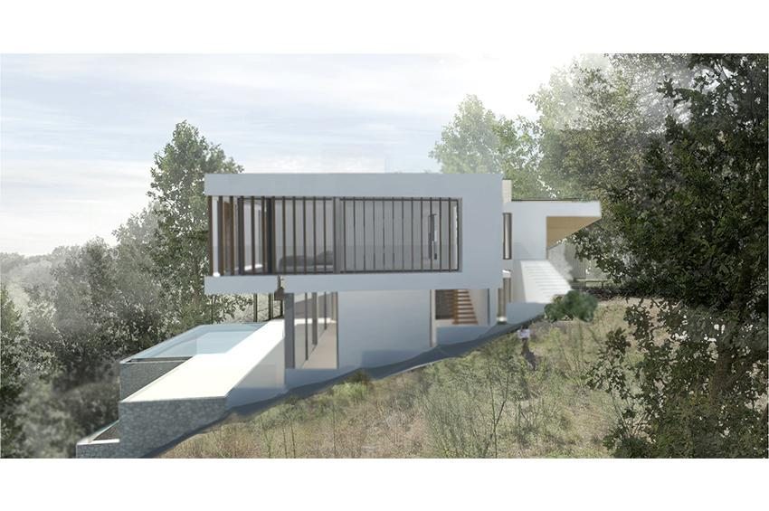 Licensed villa design project on a plot with views in Son Vida